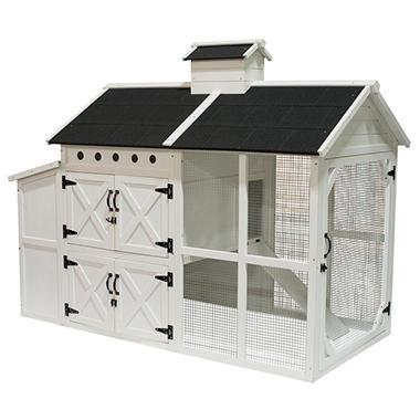Farmhouse Wooden Chicken Coop 72 X 38 X 56 Sams Club