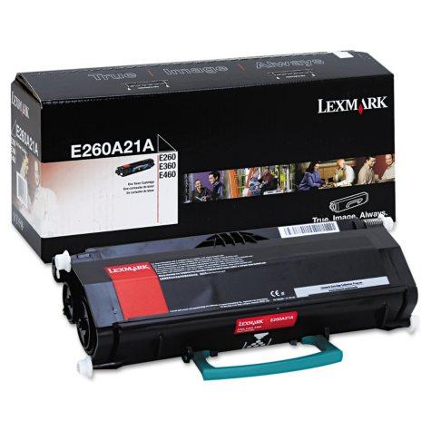 Lexmark E260/360/460 Toner Cartridge, Black, Select Type