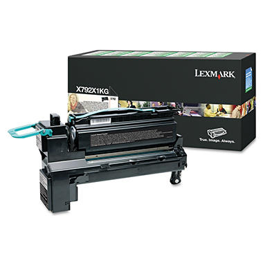 Lexmark X792 Toner Cartridge, Black (20,000 Yield)