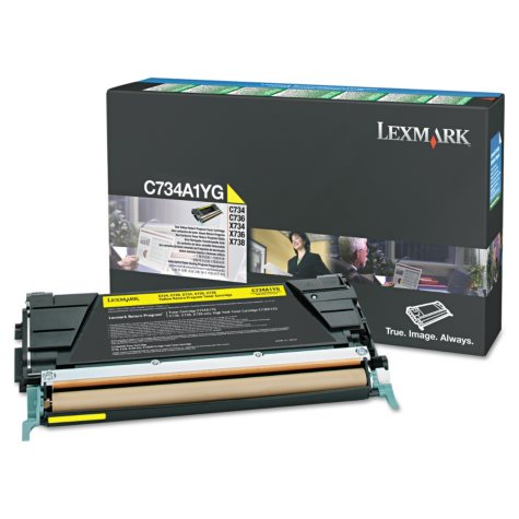 Lexmark X748 Toner Cartridge, Yellow (10,000 Yield)