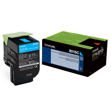 Lexmark 80C1S Toner Cartridge, Select Color (2500 Page Yield)