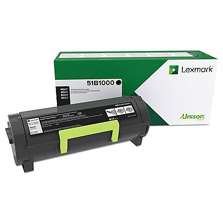 Lexmark 51B1000 Unison Toner, 2500 Page-Yield, Black