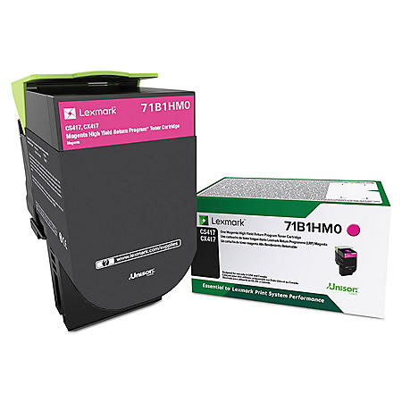 Lexmark 71B1HM0 Unison High-Yield Toner, 3500 Page-Yield, Magenta