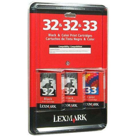 Lexmark 32 Black/ 33 Color Inkjet Cartridge Combo Pack