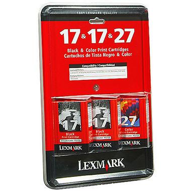 Lexmark 17 Black 27 Color Ink Cartridge Combo Pack