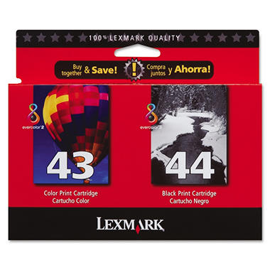 Lexmark - 18Y0372 Ink, 500 Page-Yield, 2/Pack -  Black; Tri-Color