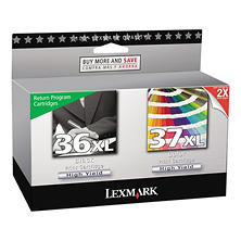 Lexmark - 18C2249 (36XL, 37XL) High-Yield Ink, 500 Page-Yield, 2/Pack -  Black and Color