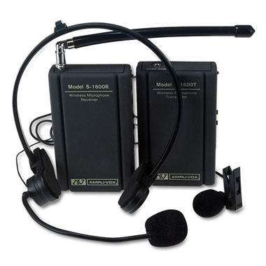 AMPLIVOX® Wireless Lapel Microphone Kit
