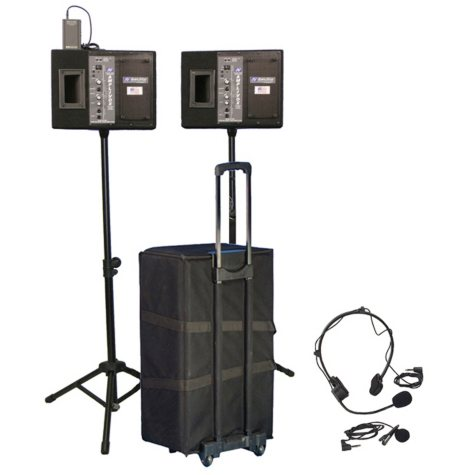 Amplivox Voice Projector Kit with Wireless Powered Speakers