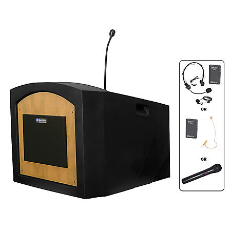 Amplivox 50W Wireless Pinnacle Tabletop Lectern, Select Color