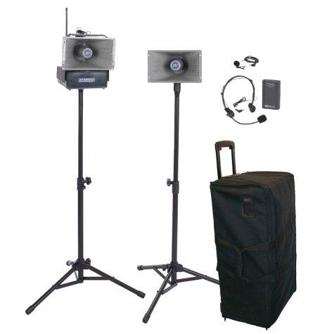 Amplivox Wireless Hailer PA Kit with Lapel/Headset Mic