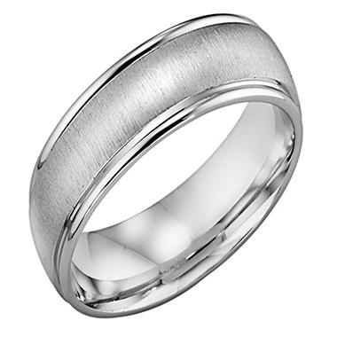 14K White Gold 6mm Comfort-fit Wedding Band