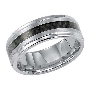 Tungsten Carbide 8mm Comfort-Fit Band