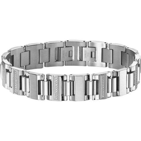 .29 ct. t.w. Stainless Steel Bracelet (I, I1)