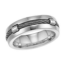 Top Rated Anium Cable Comfort Fit Wedding Band 7mm