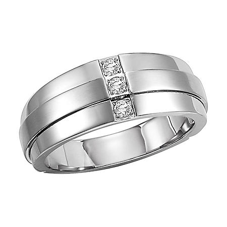 .12 ct. t.w. Diamond Stainless Band - 9mm (H-I, I1)