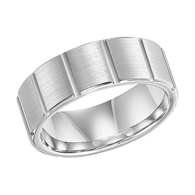 Cobalt 8mm Satin Finish Comfort-Fit Band