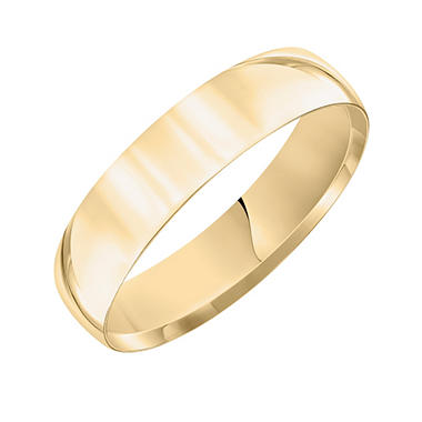 5mm Comfort-Fit Wedding Band in 14K Yellow Gold