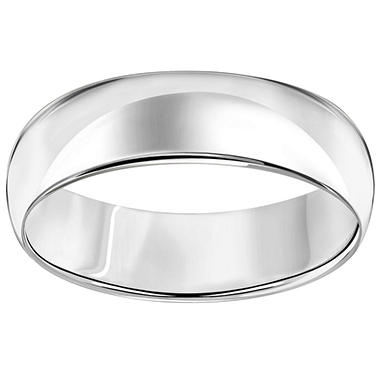 6mm Comfort-Fit Wedding Band in 14K White Gold