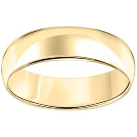6mm Comfort-Fit Wedding Band in 14K Gold
