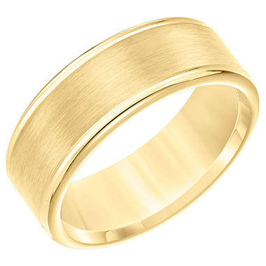 8 mm Yellow Satin Tungsten Comfort Fit Band