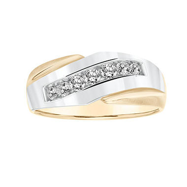 .47 CT. T.W. Men's Diamond Ring in 14K Two-Tone Gold