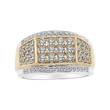 1.47 CT. T.W. Men's Diamond Ring in 14K Two-Tone Gold