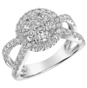1.19 CT. T.W. Diamond Ring in 14K White Gold (I, I1)