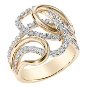 T W Diamond Ring In 14k Yellow Gold I I1