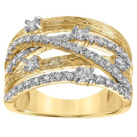 0.49 CT. T.W. Diamond Fashion Ring in 14K Yellow Gold (I, I -1)
