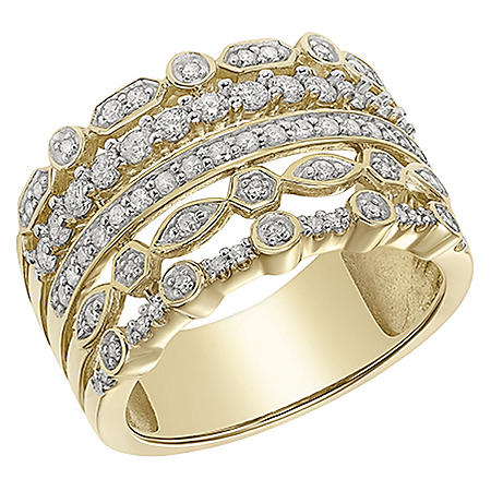 0.71 CT. T.W. 14K Gold Faux Stackable Ring