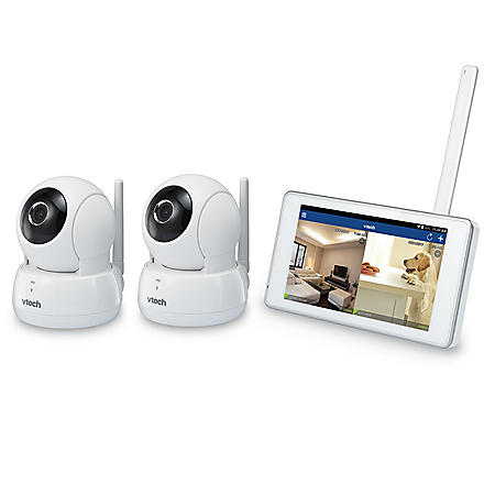"""VTech Remote Access Wireless Monitoring System with 2 Wi-Fi HD Pan & Tilt Cameras and 5"""" LCD Monitor"""