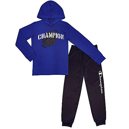 Champion 2-Piece Boys Active Blue Set