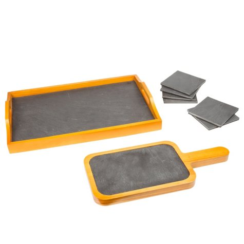 Creative Home 10-Piece Natural Slate Serving Set