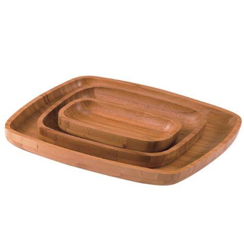 Creative Home 3-Piece Bamboo Tray Set