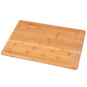 Heavy-Duty Bamboo Cutting Board with Groove