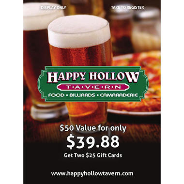 EV HAPPY HOLLOW 2 X $25