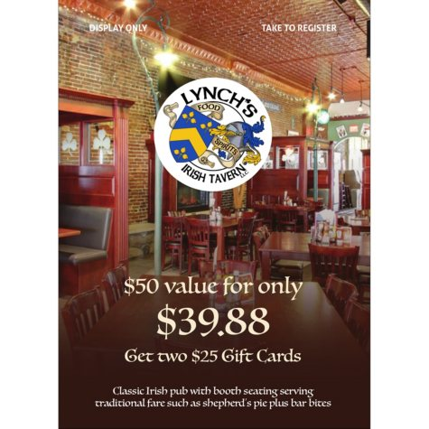 Lynch's Irish Tavern - 2 x $25