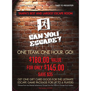Can You Escape - 1 x $180.00
