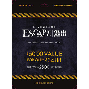 Live Game Escape - 2 x $35
