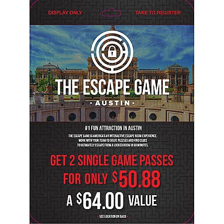 Escape Game Austin - 2 x $32