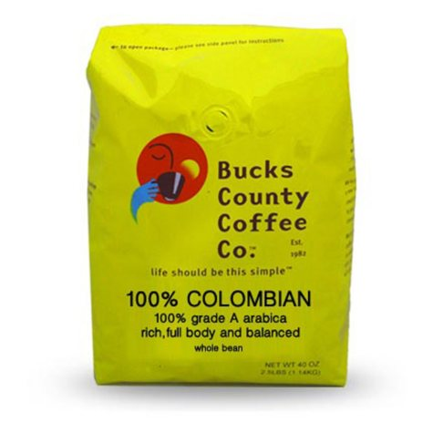 Bucks County Colombia Whole Bean Coffee (2.5 lb.)