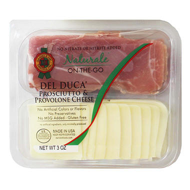Naturale On-The-Go Del Duca Prosciutto & Provolone (3 oz., 12pk.)