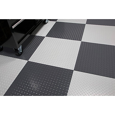 RaceDay Peel & Stick Diamond Tread Tile - Various Colors Available