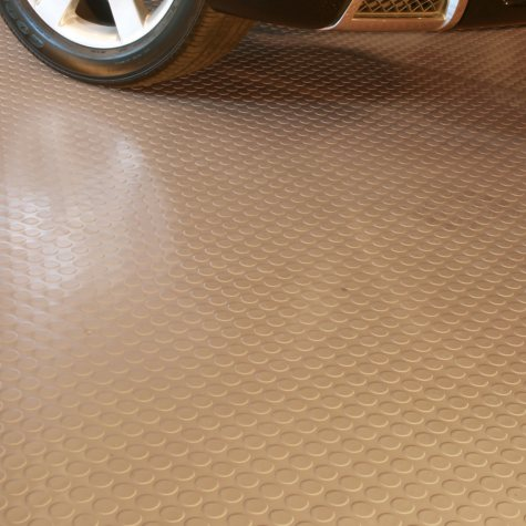 7.5 x 17 G-Floor Garage and Utility Flooring - Coin Pattern