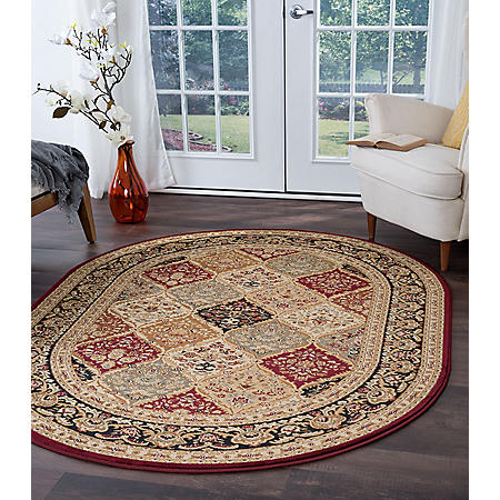 Providence Diamond Oval Area Rug