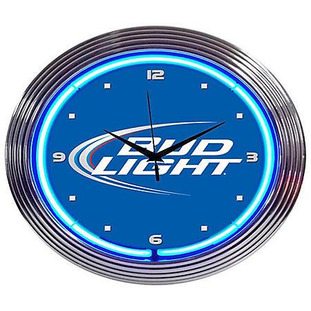 "Neonetics - Bud Light Neon Wall Clock - 15"""
