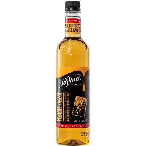 DaVinci Gourmet Flavored Syrup - English Toffee (750 ml)