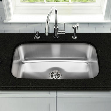 Stahl Stainless Extra Large Single Bowl Kitchen Sink - Sam\'s Club
