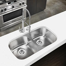 Stahl Stainless Equal Double Bowl Kitchen Sink